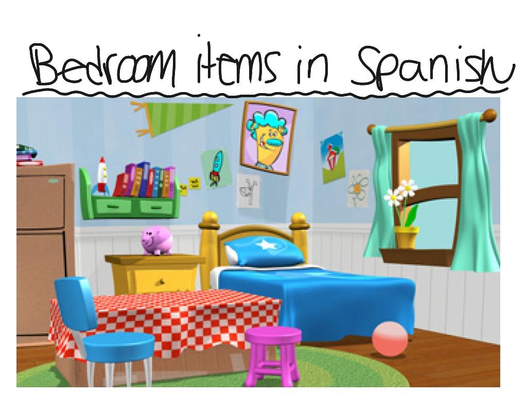 Spanish Bedroom Vocabulary