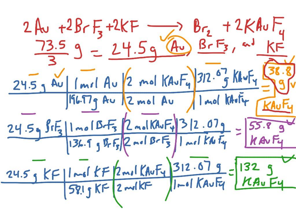 Number 6 Limiting Reagent Worksheet 1