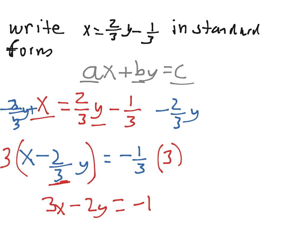 Writing Equation In Standard Form Chapter 2 Test Mc 4