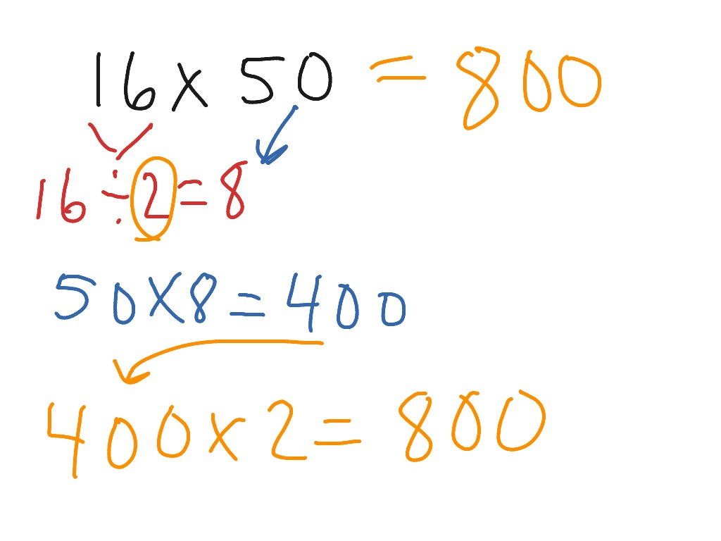 Mental Math Using Halving And Doubling