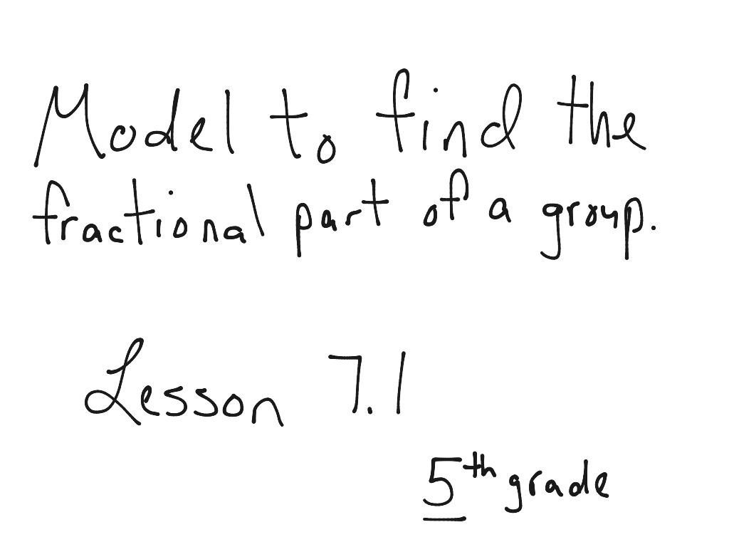 5th Grade Lesson 7 1