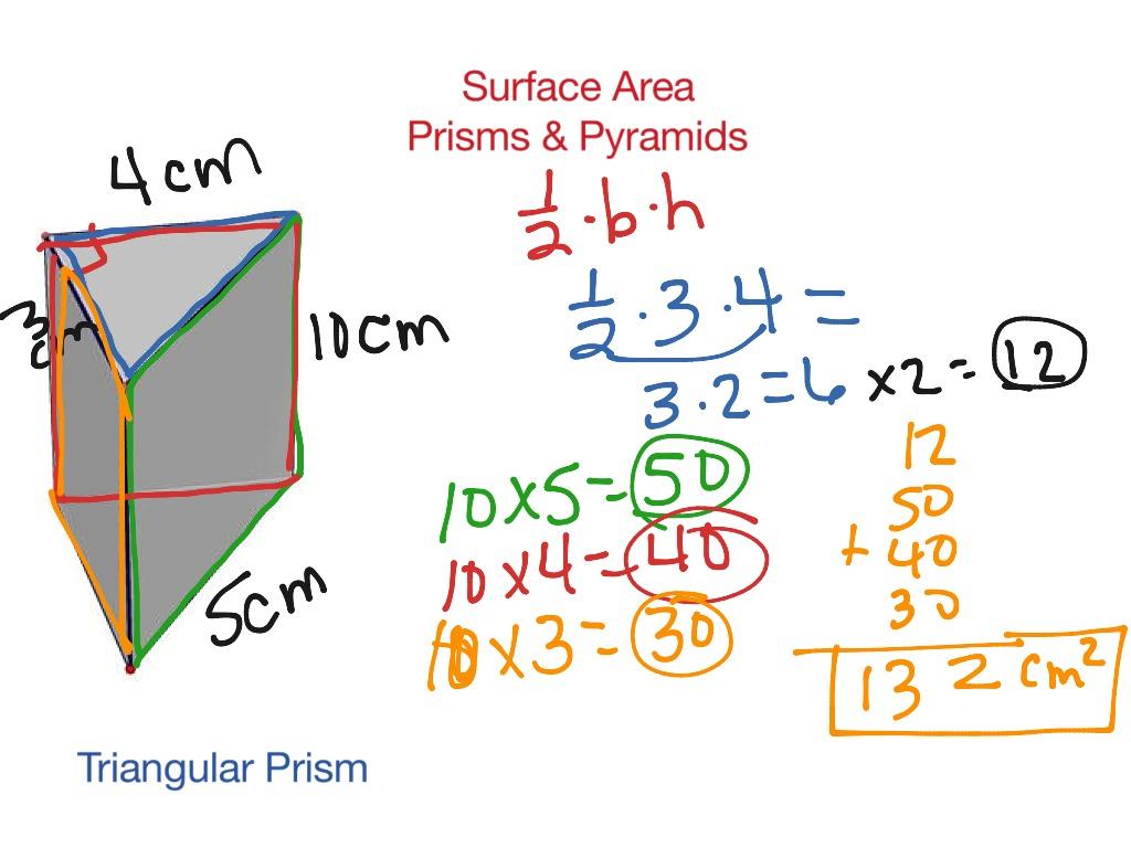 Surface Area Prisms Amp Pyramids
