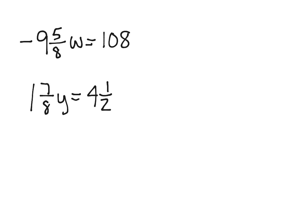 How To Do One Step Equations With Rational Coefficients