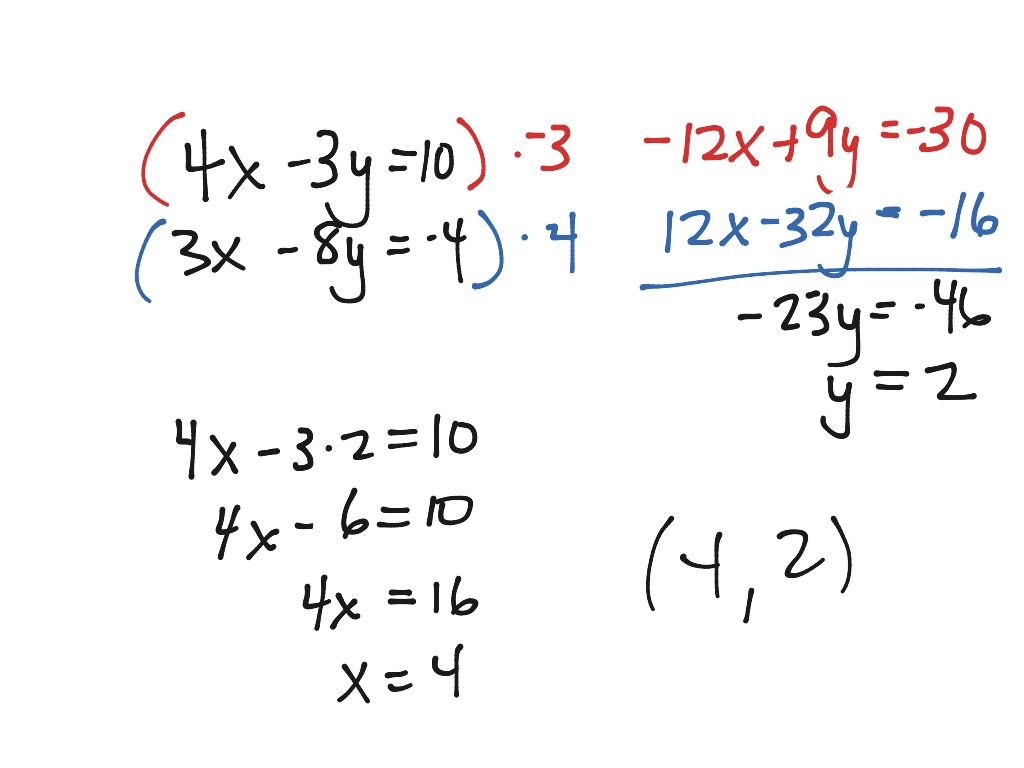 Solving Systems With Elimination And Substitution