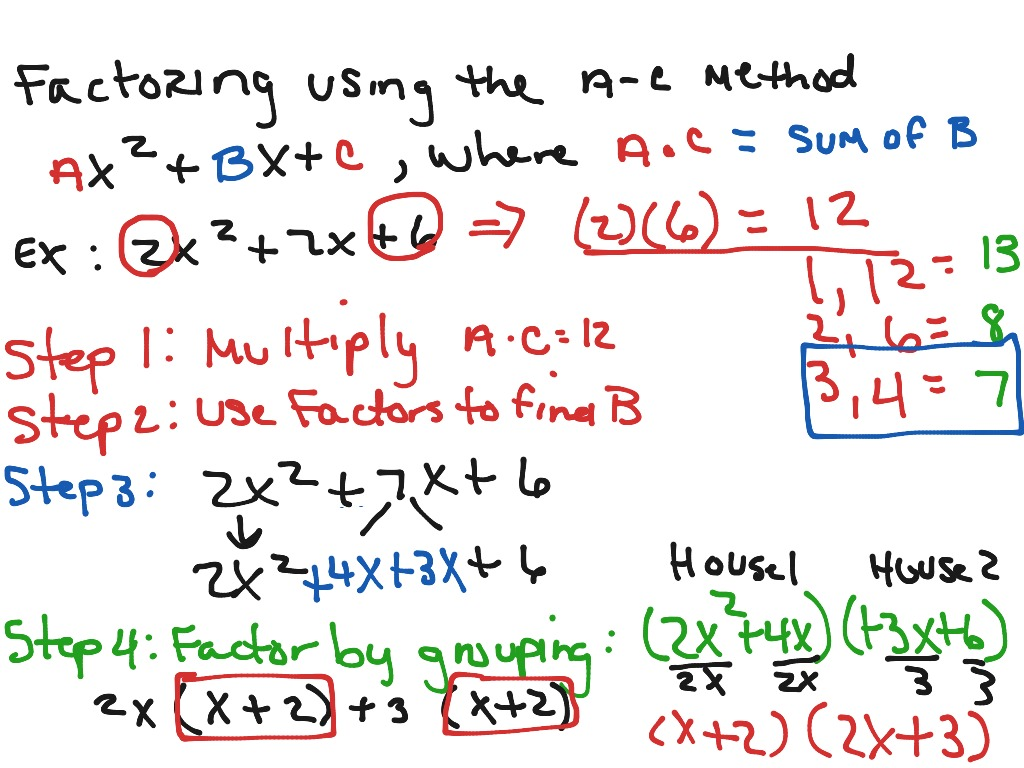 Factoring Using The A C Method