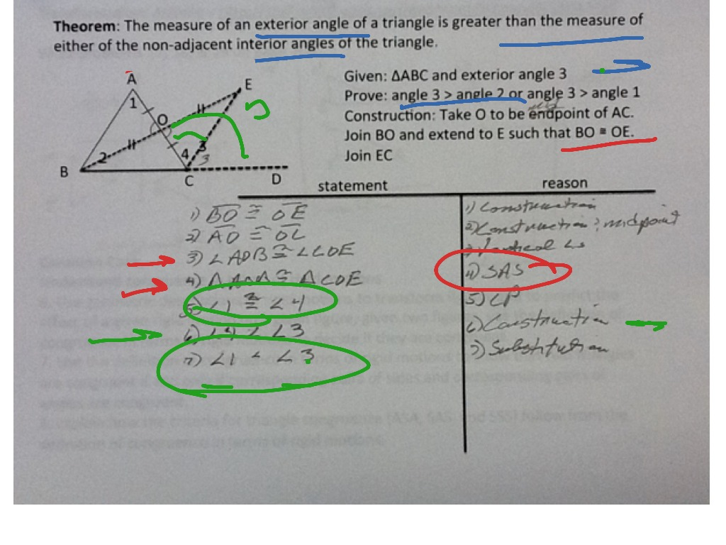 Proof That Exterior Angle Of A Triangle Is Greater Than