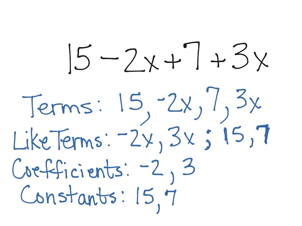 27 Identifying Parts Of An Algebraic Expression Worksheet