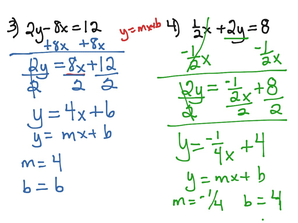 Solving An Equation For Y Y Mx B