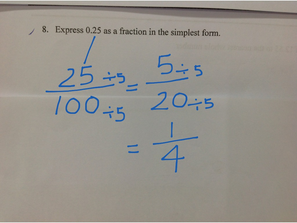 P4 Decimals Worksheet Q8