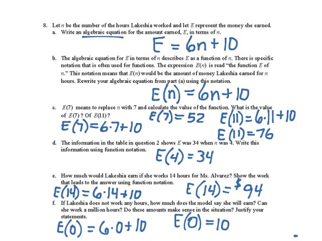 23-23f connecting tables, graphs, and function notation  Math