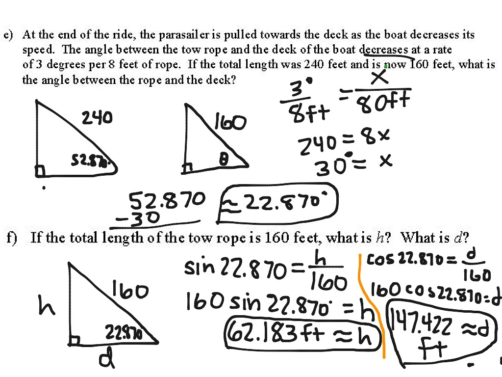3 4 Intro To Related Rates Trig Ratios