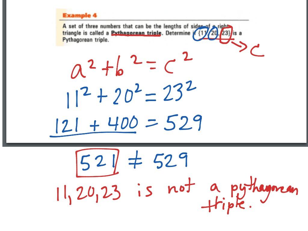 Pythagorean Theorem Section 8 6