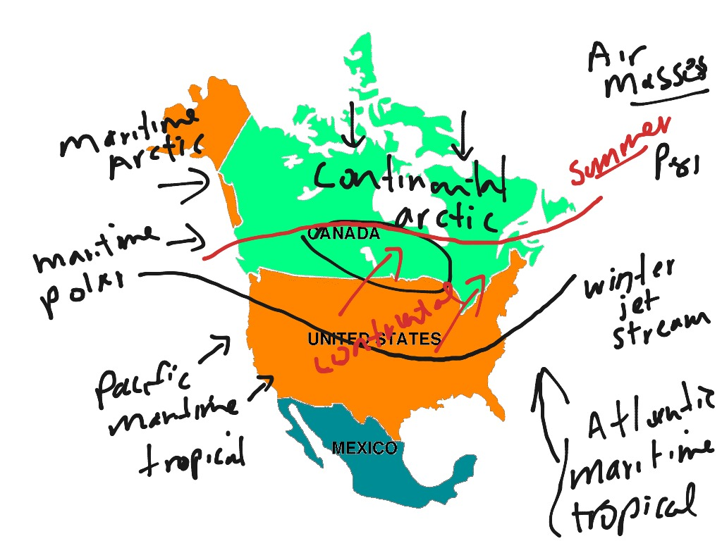 North America Air Masses