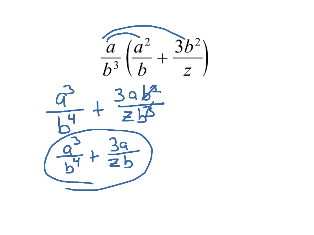 39 Ex 1 Distributive Property Rational Expressions