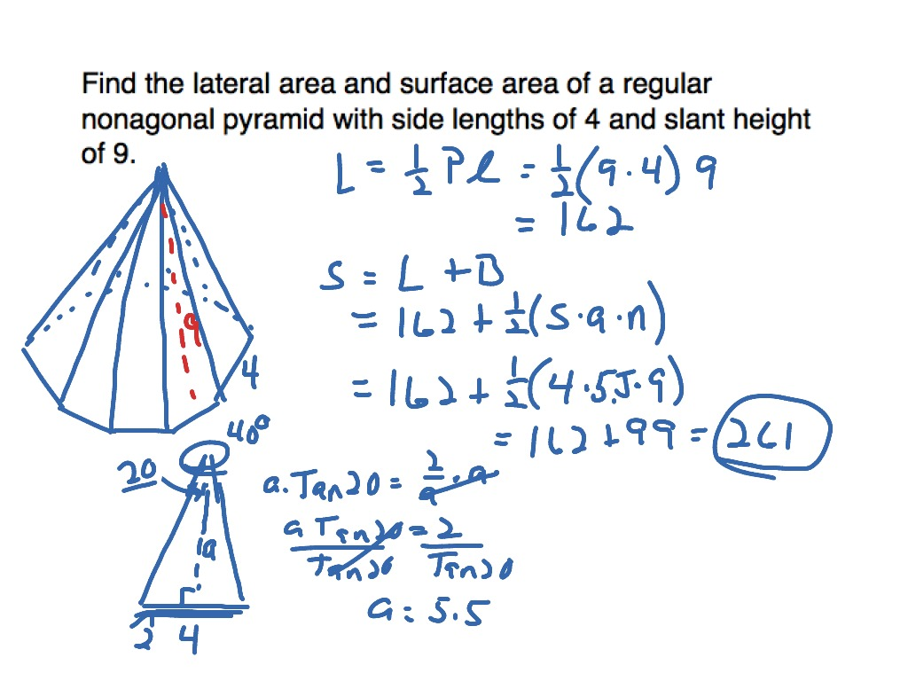 10 5 Surface Area Of A Pyramid