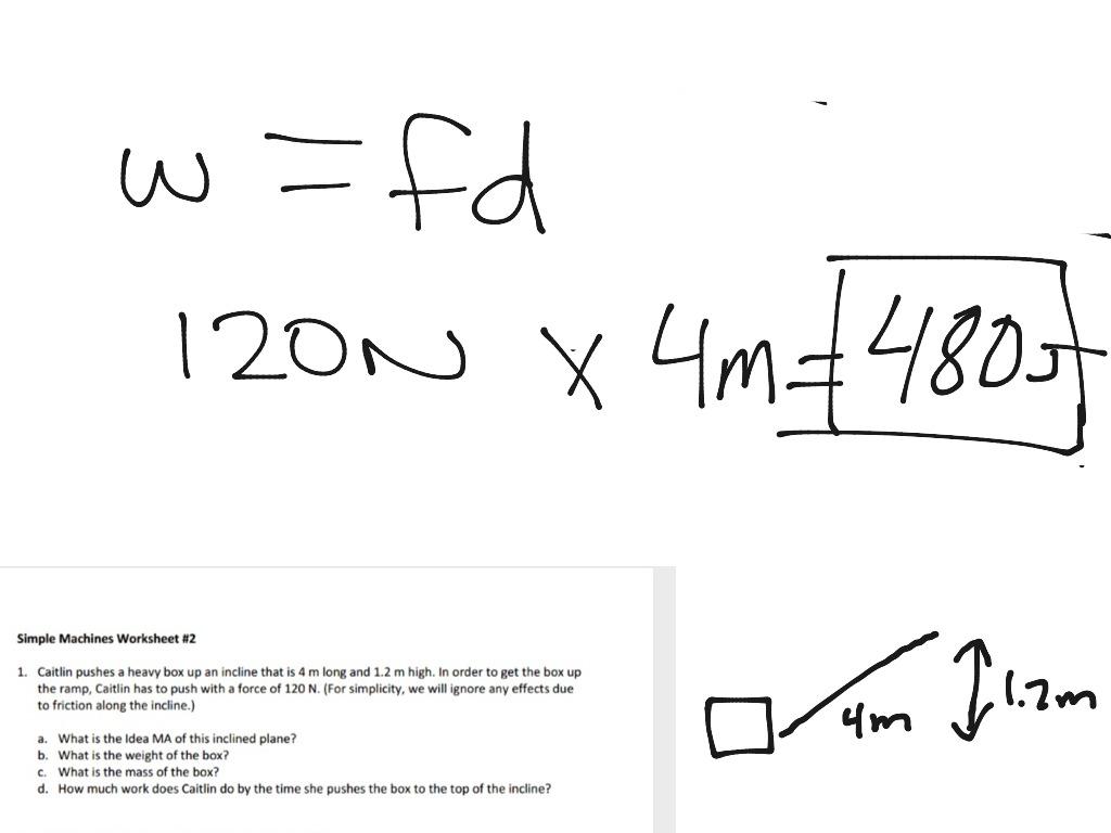 Simple Machines Worksheet 2 Problem 1