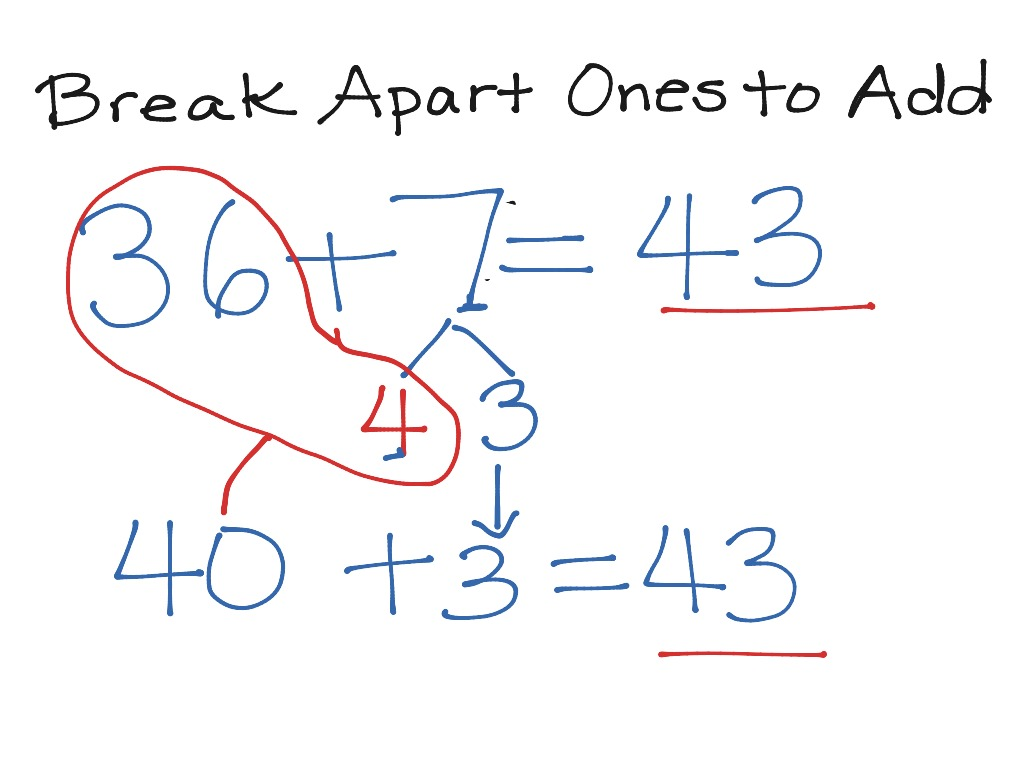 4 1 Break Apart Ones To Add Make A10