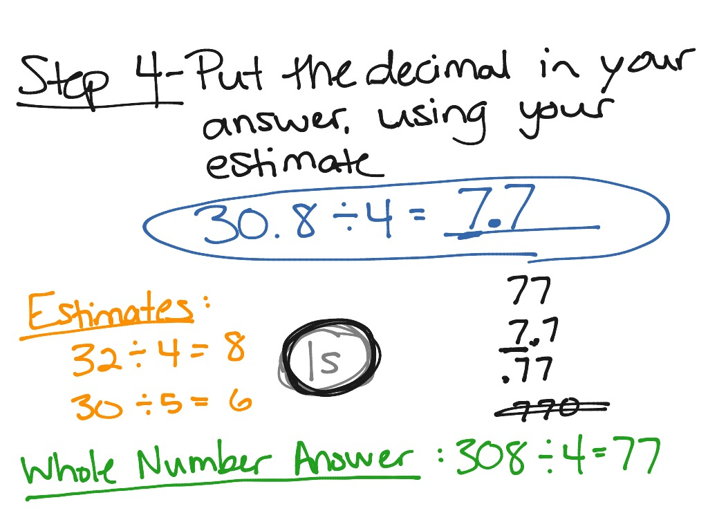 Dividing Decimals 5th Grade Math