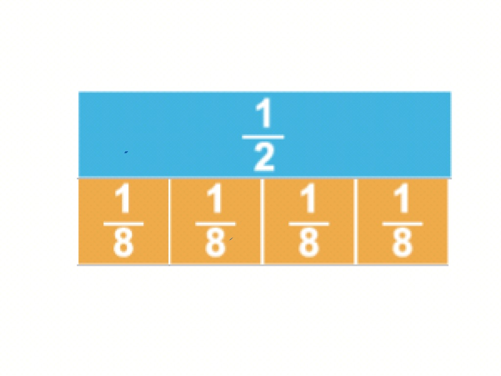 Equivalent Fractions 1 2 And 4 8 By Natalia