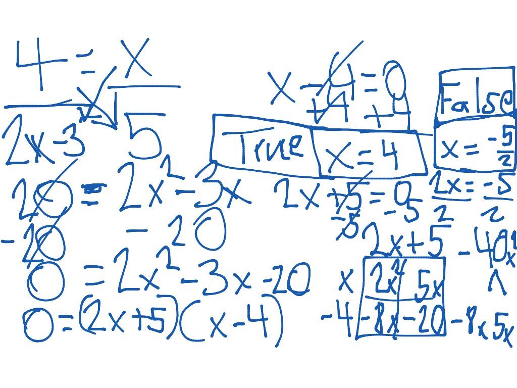 Solving Fractions Using Cross Multiplication