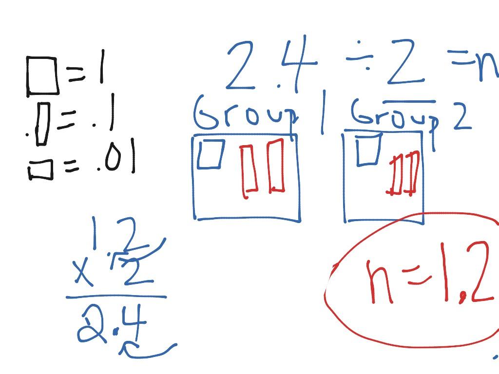 Base Ten Blocks Division Decimals