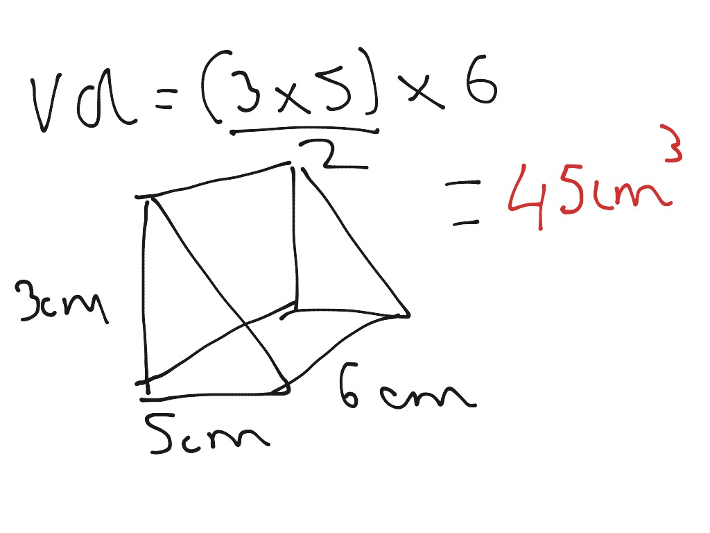 Volume Of A Triangular Based Prism