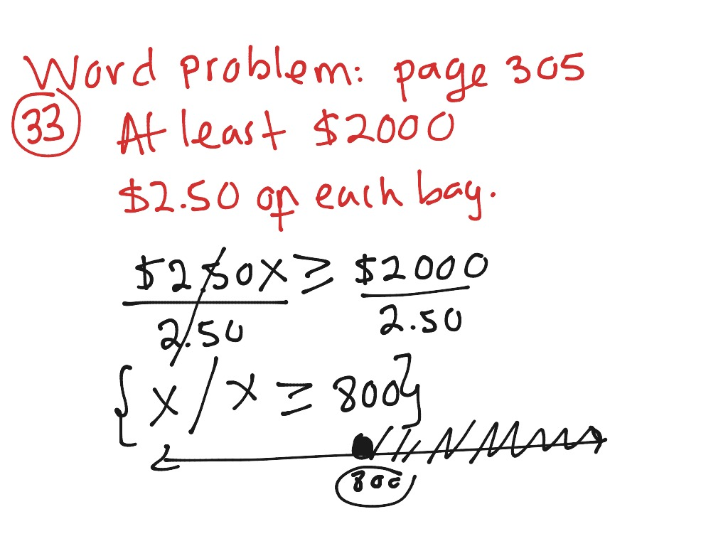 6 3 Solving Inequalities By Using Multiplication And