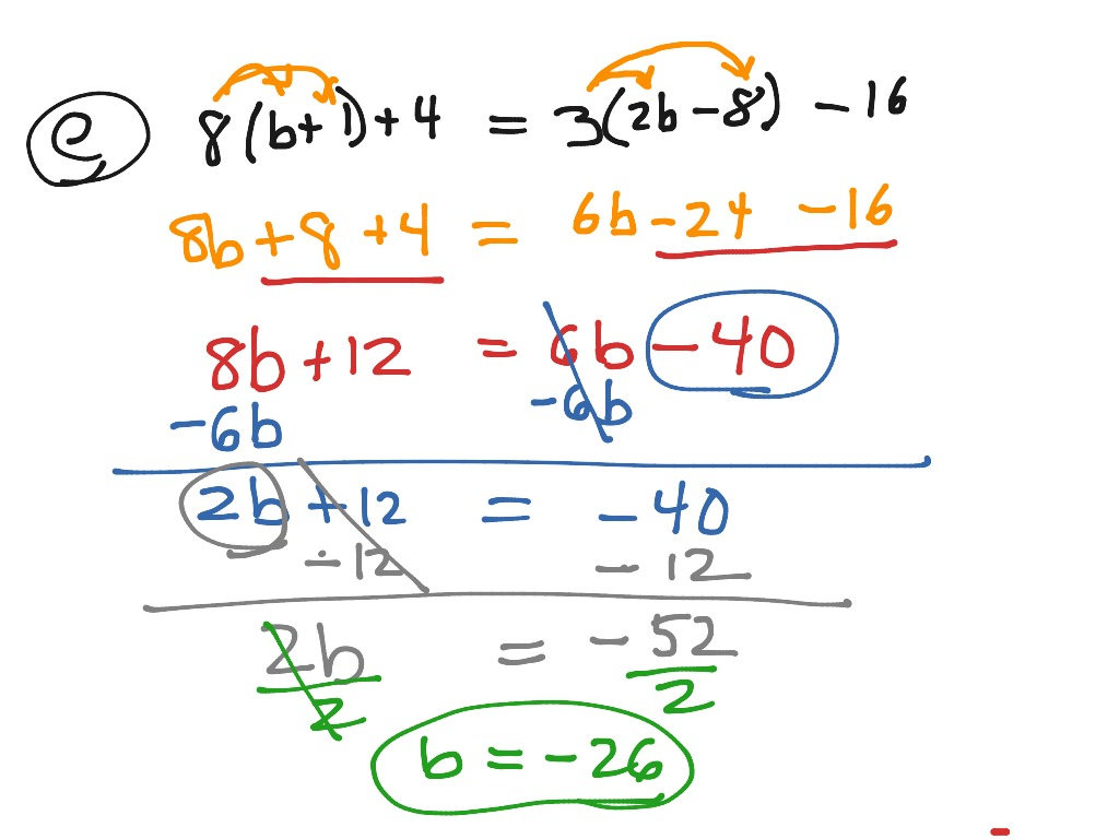 Algebra1 3 5 Solving Equations W Variables On Both Sides Full Year