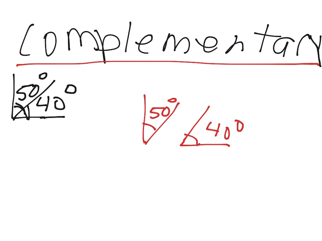 Math Project Supplementary And Complementary Angles