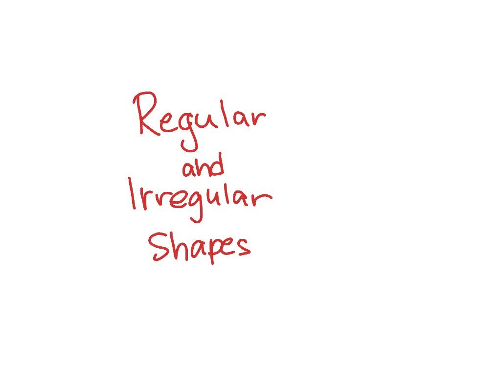 Regular And Irregular 2d Shapes Ppt