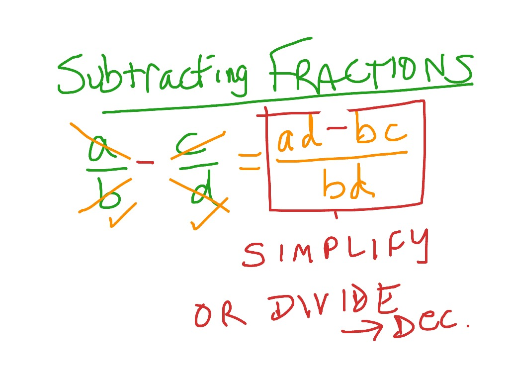Adding Amp Subtracting Fractions Using Cross Multiplication