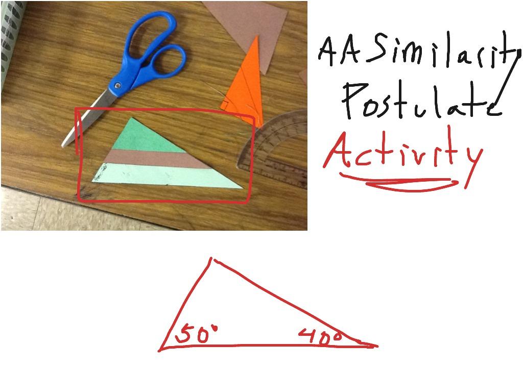 Angle Angle Similarity Postulate Activity