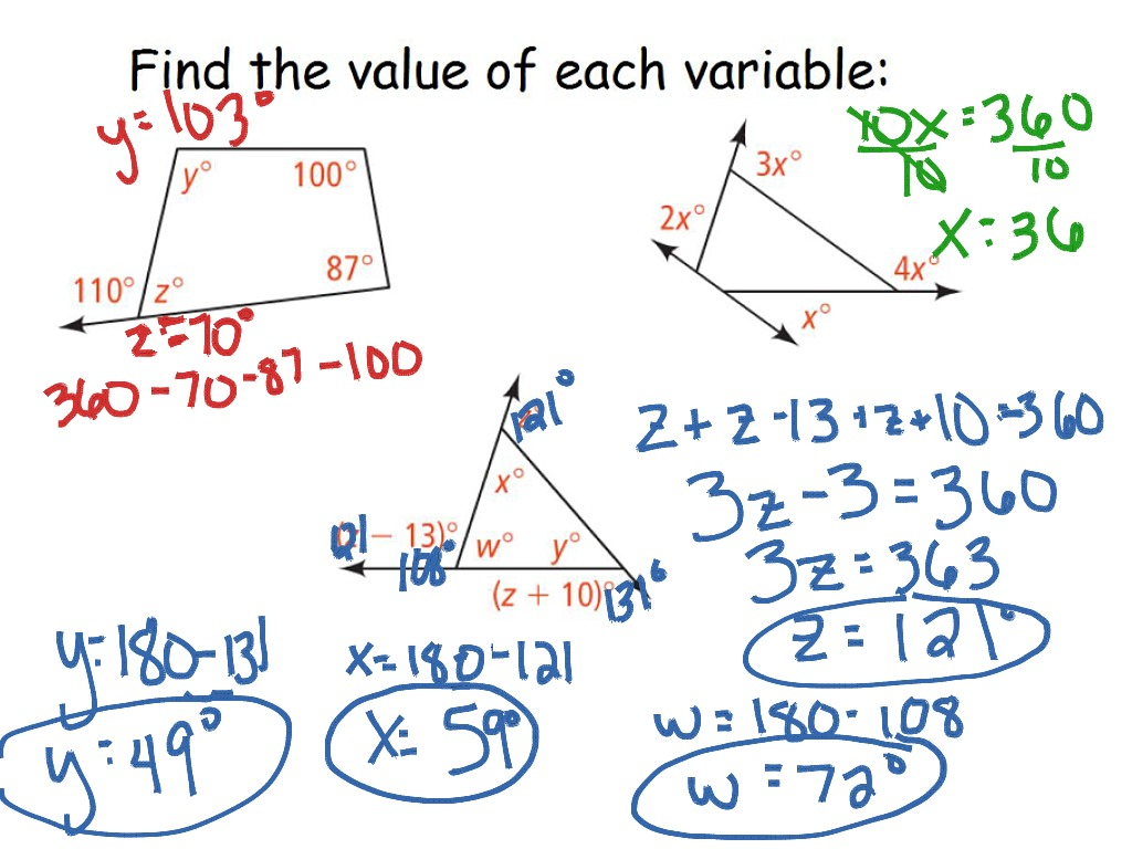 Triangle Worksheet For 5th Grade