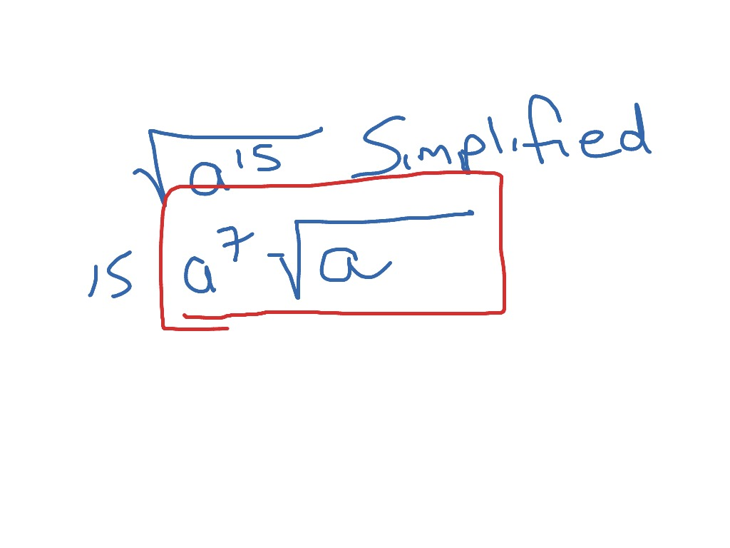 Radical Expressions With Variables Simplified