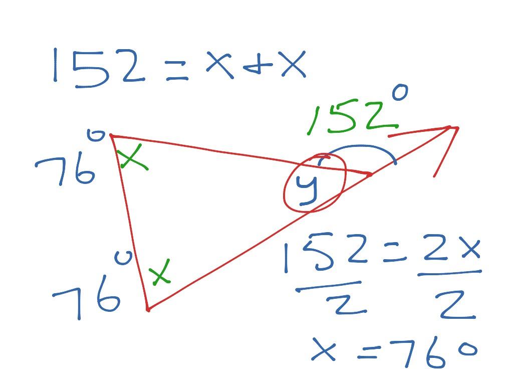 Exterior Angle Sum Theorem Angle Theorem Of Triangle