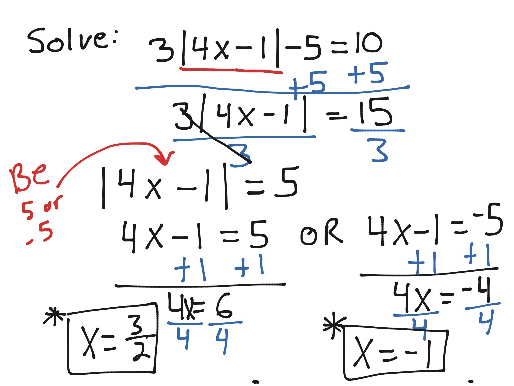 Sec 1 5 Absolute Value Equations Multi Step