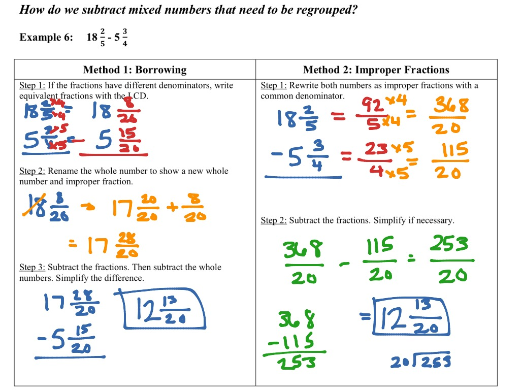 Printables Of Borrowing Numbers In Subtraction