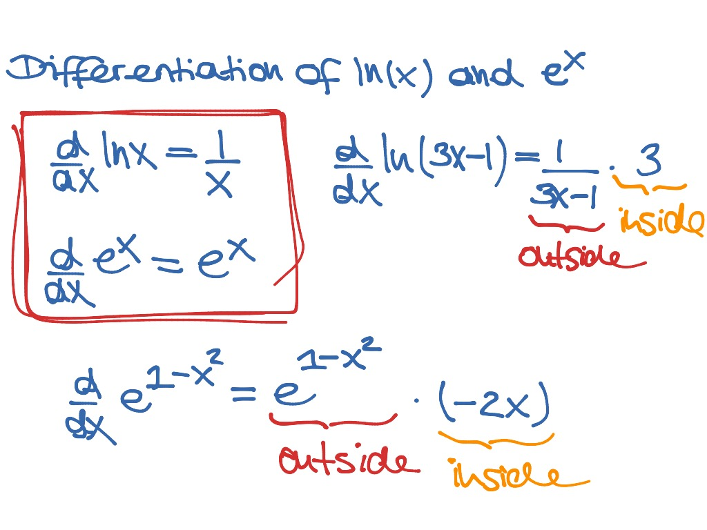 Ig2 Differentiation Of Logarithmic And Exponential