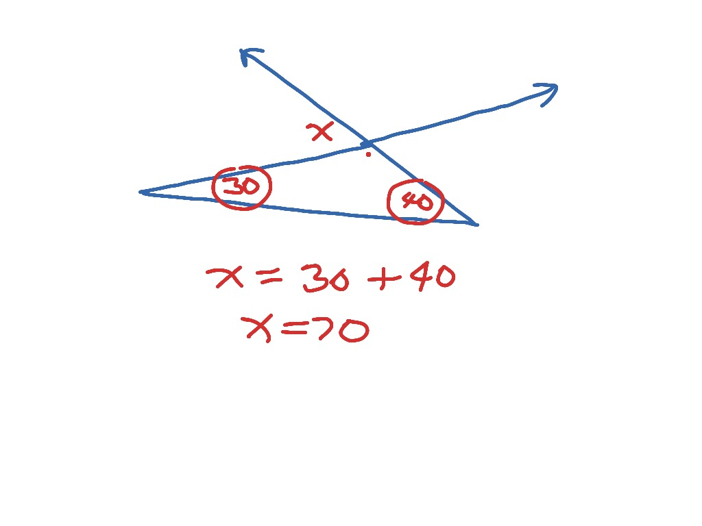3 4 Exterior Angle Theorem
