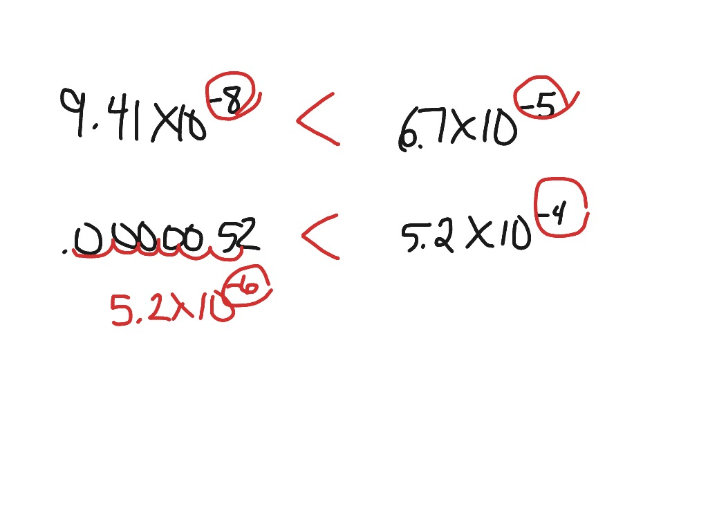 Comparing Values With Scientific Notation