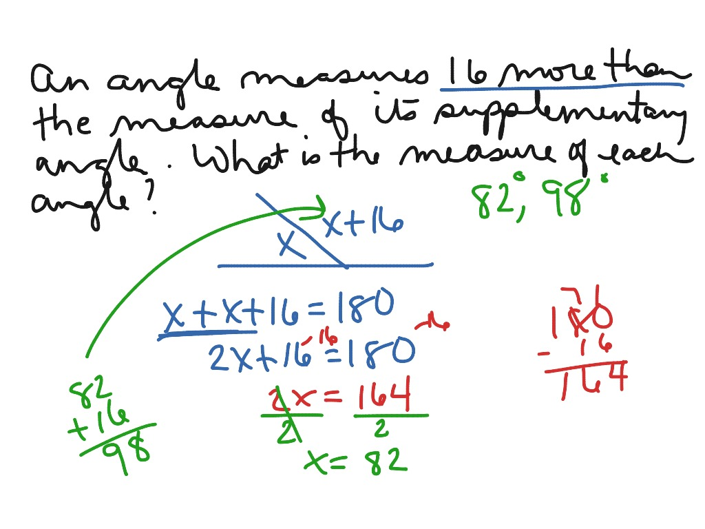 Finding The Measure Of Angles