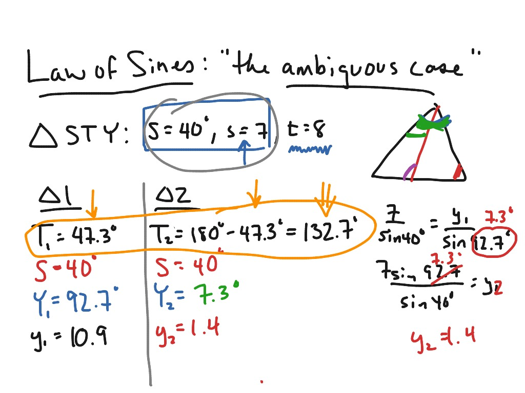 Mac Law Of Sines Solving Triangles When No Triangle