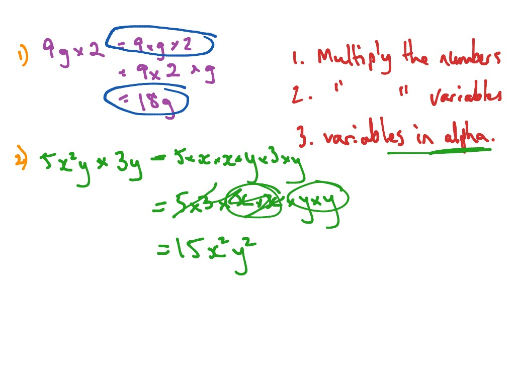 Yr 8 Maths Ch 3 5 Multiplying Algebraic Terms