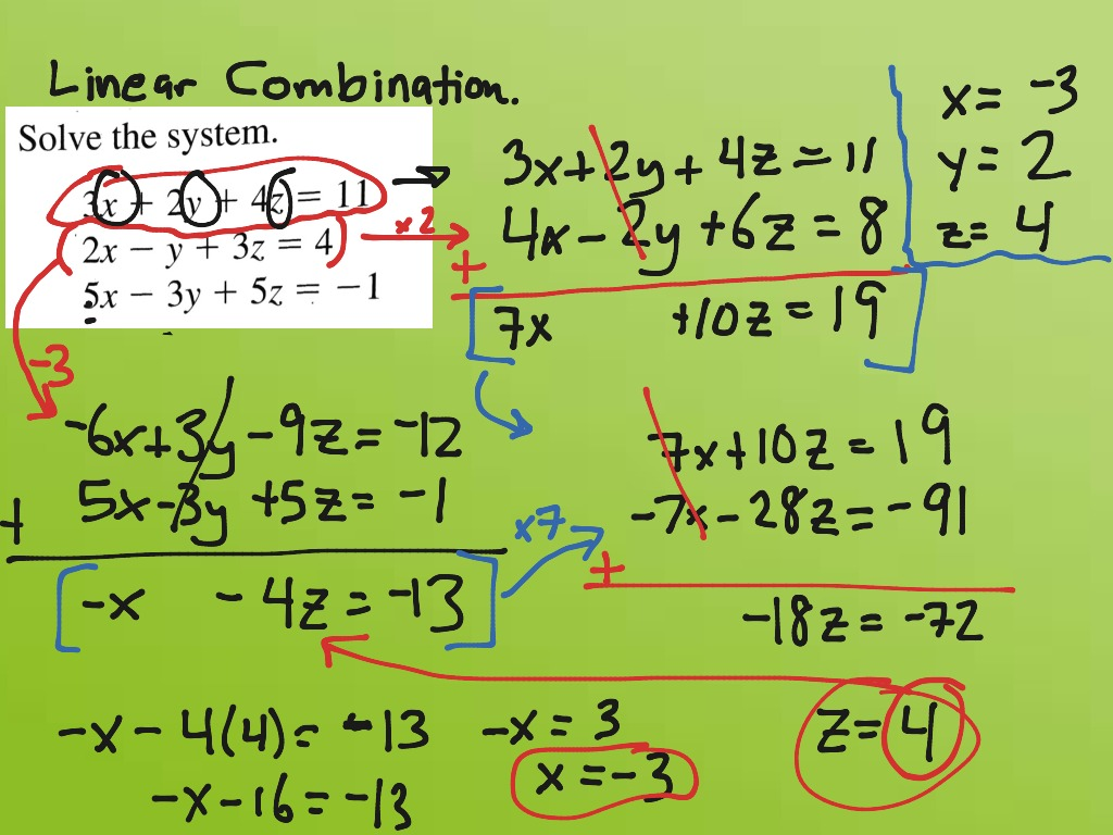 Alg2 System Of Equations With Three Variables Linear