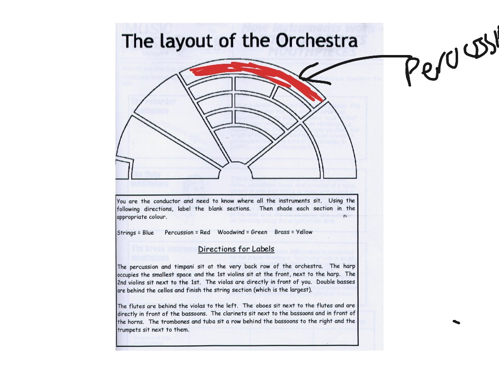 The Layout Of The Orchestra