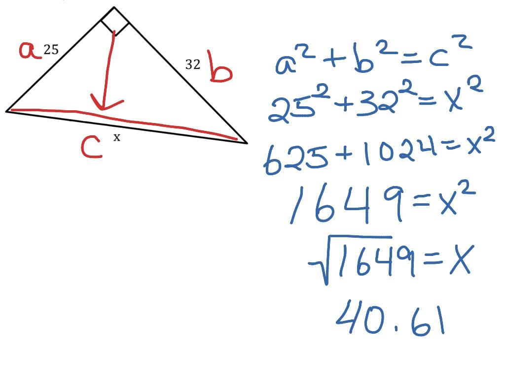 Pythagorean Theorem Example 2