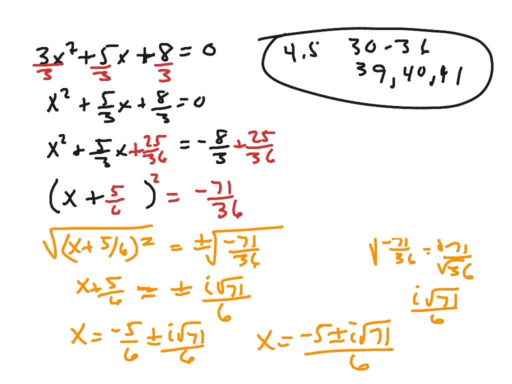 How To S Wiki 88 How To Complete The Square Algebra 2