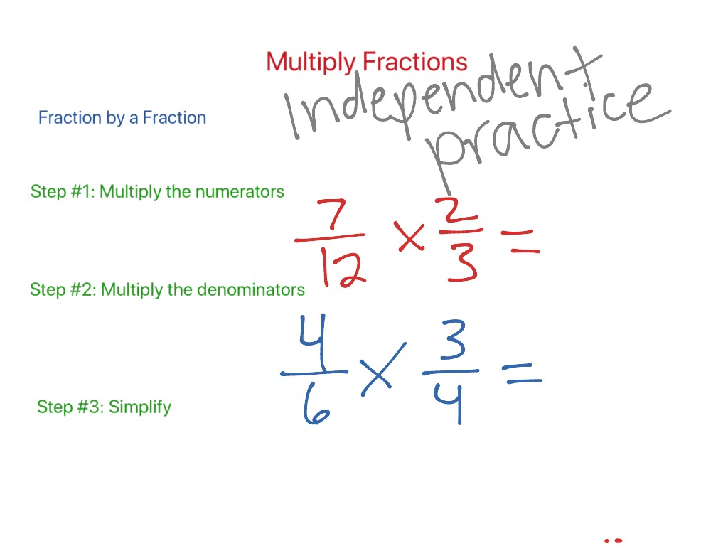 Multiplying Proper Fractions Video 1