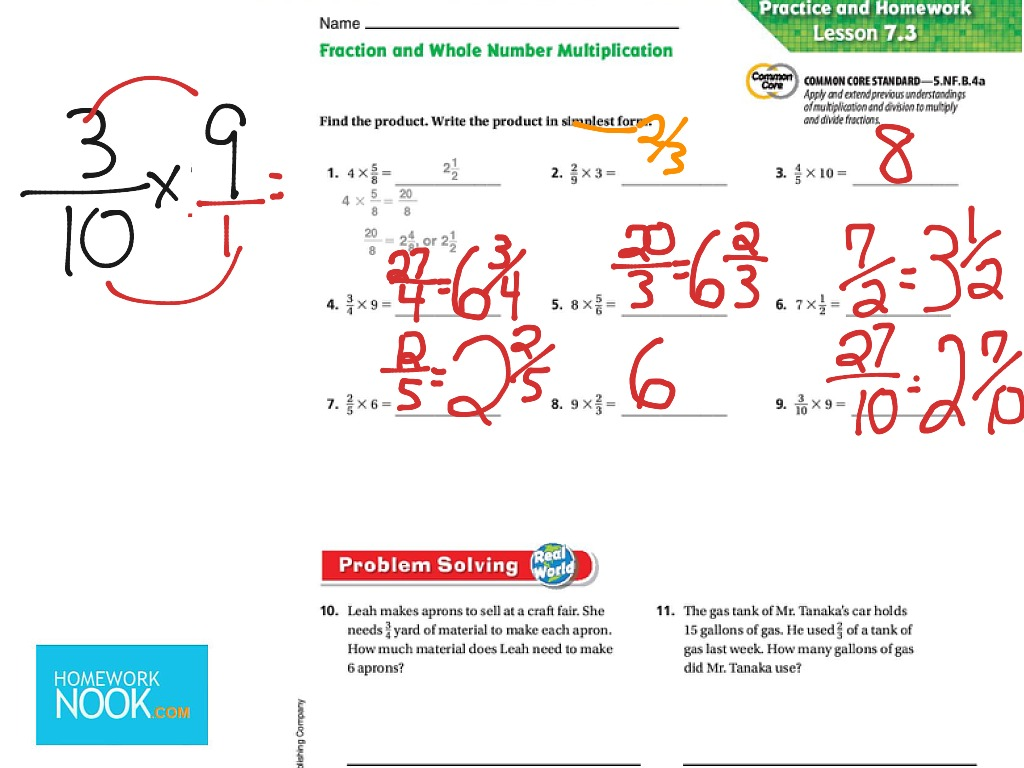 Fraction And Whole Number Multiplication