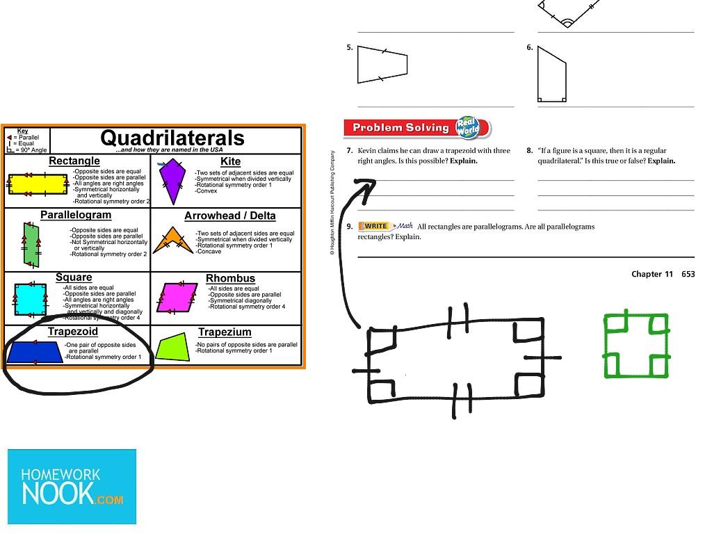 Classifying Quadrilaterals Go Math 11 3